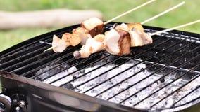 De barbecue van de paddestoel Royalty-vrije Stock Foto's
