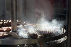 De barbecue van de worst Stock Foto