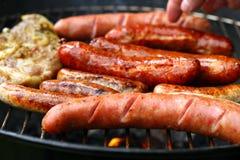De barbecue van de worst royalty-vrije stock afbeelding