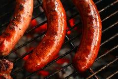 De barbecue van de worst Royalty-vrije Stock Foto's