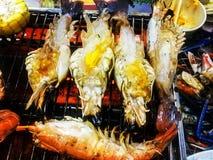 De barbecue van garnalengarnalen royalty-vrije stock afbeelding