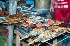 De barbecue van Laos, Hongsa, Laos Stock Foto