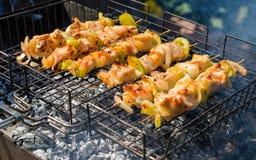De barbecue van Turkije stock afbeeldingen