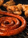 De barbecue van worsten Royalty-vrije Stock Foto's