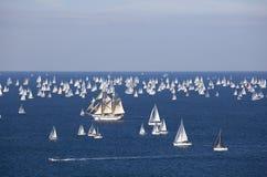 De Barcolana regatta 2010 stock foto's