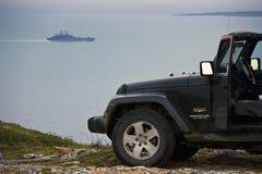 De Barentsz Zee, het gebied van Moermansk, Rusland Stock Afbeelding