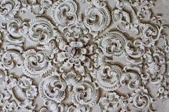 De barokke decoratie van het ornamentdetail Stock Afbeeldingen