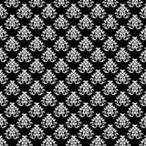 De barokke Textuur Achtergrond van het Patroon - Zwarte en Whi stock fotografie