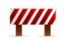 De barrière van de bouw royalty-vrije illustratie