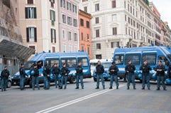 De barrière van de politie Stock Foto