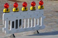 De barrière van de politie Stock Fotografie