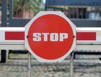 De barrière van de veiligheid Stock Afbeelding