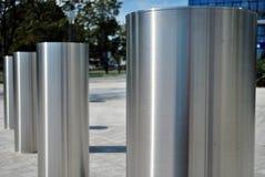 De barrière van de voertuigtoegang Perimetertoegangsbeheer voor voertuigen stock foto