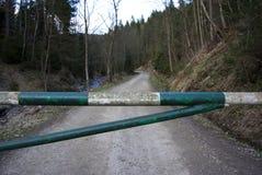 De barrière van de voertuigveiligheid stock afbeelding