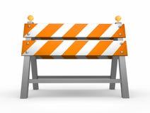 De barrière van de weg vector illustratie