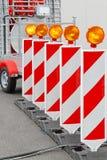 De barrière van de weg Stock Afbeeldingen