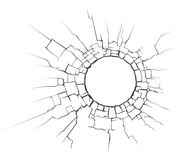 De barst van de cirkel Stock Fotografie