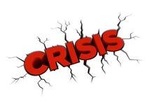 De barst van de crisis Stock Foto's