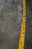 De barstoppervlakte van de asfaltweg Stock Foto's