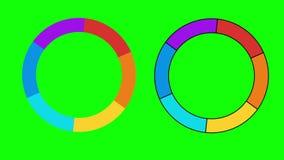 De barui indicatoren van de vooruitgangslading stock videobeelden