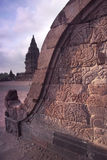 De bas-Hulp van de Balustrade van Prambanan, Java, Indonesië Royalty-vrije Stock Afbeeldingen