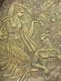 De bas-hulp van het koper op basis van oude mythen royalty-vrije stock fotografie