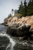 De bas Vuurtoren Maine van de Haven Royalty-vrije Stock Afbeeldingen