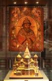 De Basilicumkathedraal van heilige binnen. Moskou, Rusland royalty-vrije stock afbeelding