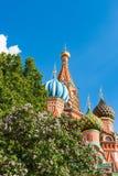 De Basilicumkathedraal van Moskou St op Rood Vierkant Royalty-vrije Stock Foto's