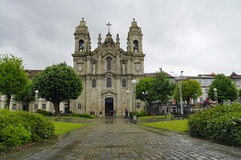 De Basiliek Congregados in het centrum van Braga royalty-vrije stock foto