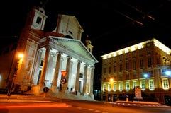De basiliek in nacht - Genua Italië Royalty-vrije Stock Foto