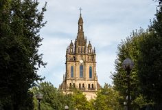 De Basiliek van Begonia in Bilbao van Spanje stock afbeelding