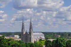 De Basiliek van de Kathedraal van Notre-Dame Royalty-vrije Stock Afbeeldingen