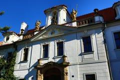 De Basiliek van de Veronderstelling van Onze Dame is een kerk in het Strahov-Klooster, Praag Royalty-vrije Stock Fotografie