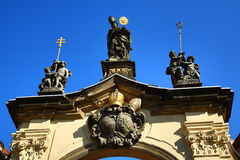 De Basiliek van de Veronderstelling van Onze Dame is een kerk in het Strahov-Klooster, Praag Royalty-vrije Stock Foto