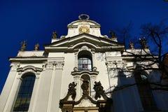 De Basiliek van de Veronderstelling van Onze Dame is een kerk in het Strahov-Klooster, Praag Stock Foto