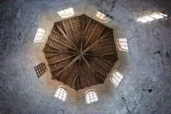 De basiliek van Euphrasian, die in de klokketoren wordt geplaatst. Porec Stock Foto