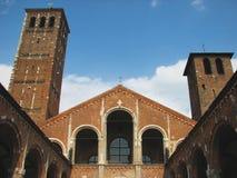 De Basiliek van heilige Ambrose Stock Afbeelding