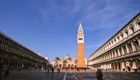De Basiliek van heilige Mark's in Venetië Italië stock afbeelding