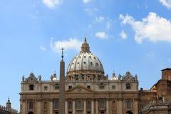 De Basiliek van heilige Peter, de stad van Vatikaan, Rome, Italië Royalty-vrije Stock Foto