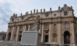 De Basiliek van heilige Peter ` s, de Stad van Vatikaan royalty-vrije stock afbeelding