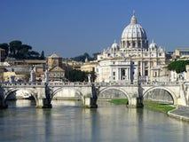 De basiliek van heilige Peters, Rome Royalty-vrije Stock Afbeeldingen
