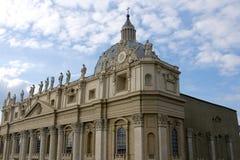De Basiliek van heilige Peters in Vatikaan (Rome) Stock Foto