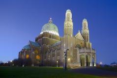 De Basiliek van het Heilige Hart in Brussel, België stock afbeelding