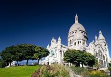 De basiliek van het Heilige Hart van Jesus van Parijs Stock Afbeeldingen
