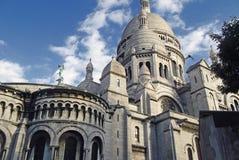 De basiliek van het Heilige Hart van Parijs Stock Afbeelding