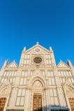 De basiliek van het Heilige Kruis in Florence, Italië Stock Afbeeldingen
