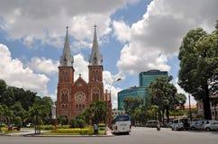 De Basiliek van Notre Dame, Ho-Chi-Minh-Stad, Vietnam Royalty-vrije Stock Foto's