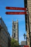 De Basiliek van Notre Dame in Montreal Stock Fotografie