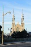 De Basiliek van Notre Dame in Ottawa Stock Afbeelding